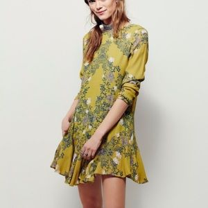 Free people green floral smooth talker dress tunic